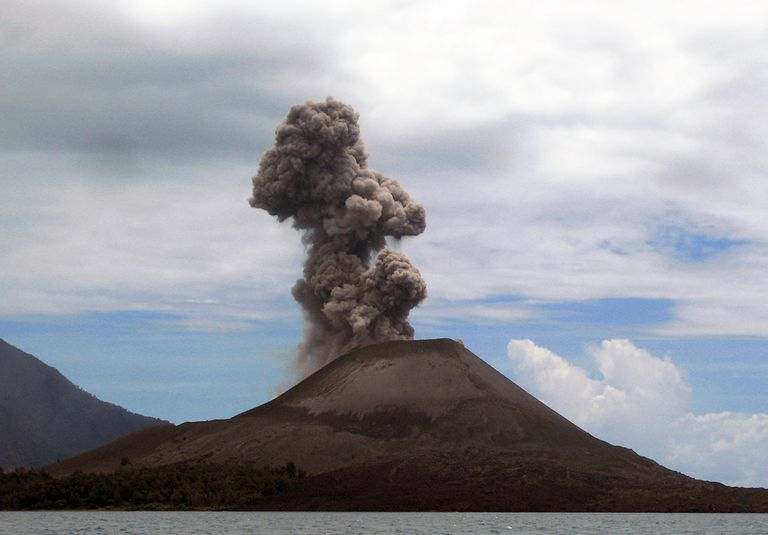Krakatoa erupted in 1883, killing more than 36,000 people.