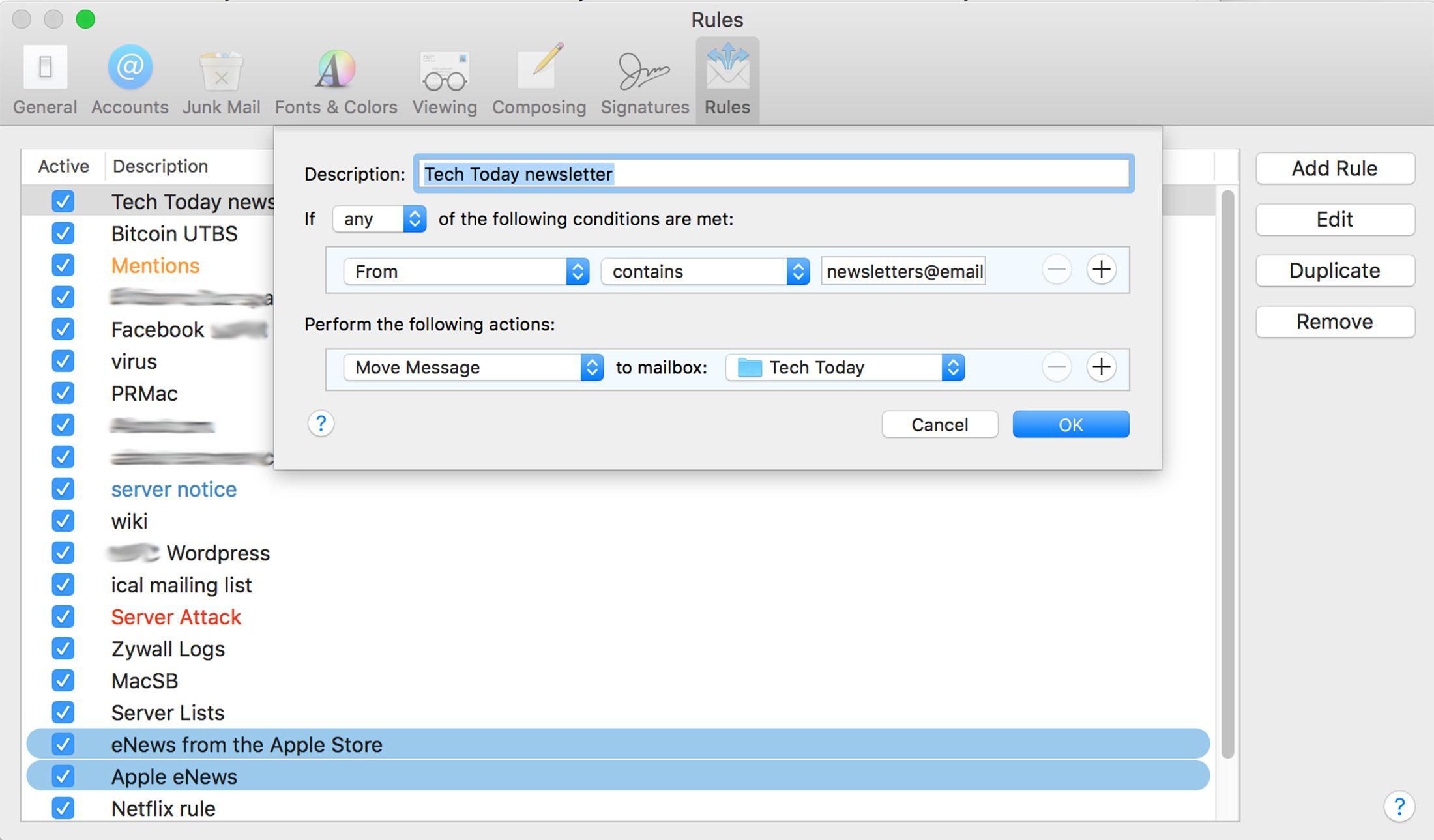 Apple mail keyboard shortcuts creating an apple mail rule biocorpaavc