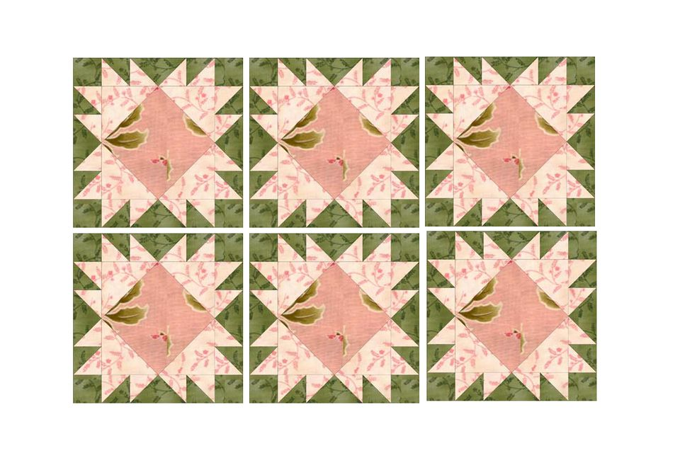 King's Crown Quilt Block Pattern