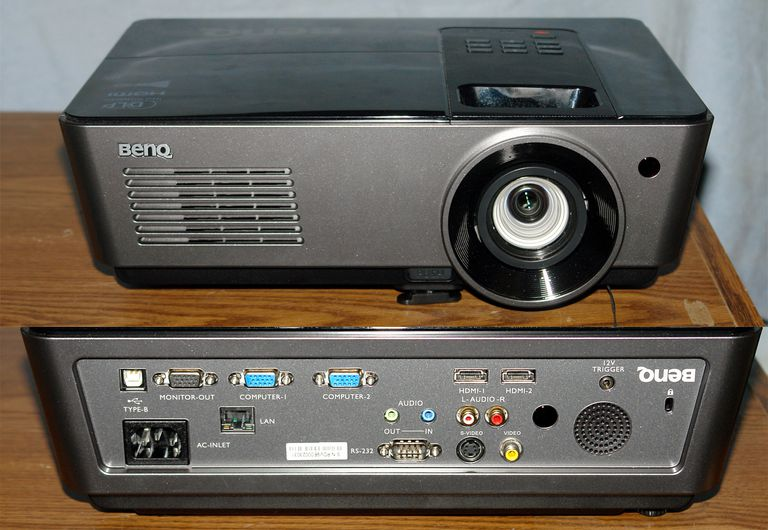 BenQ HC1200 DLP Video Projector - Front and Rear View
