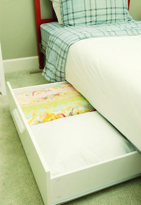 Under bed storage solutions
