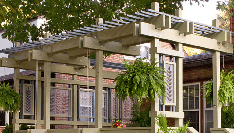 deck pergola plan from lowes