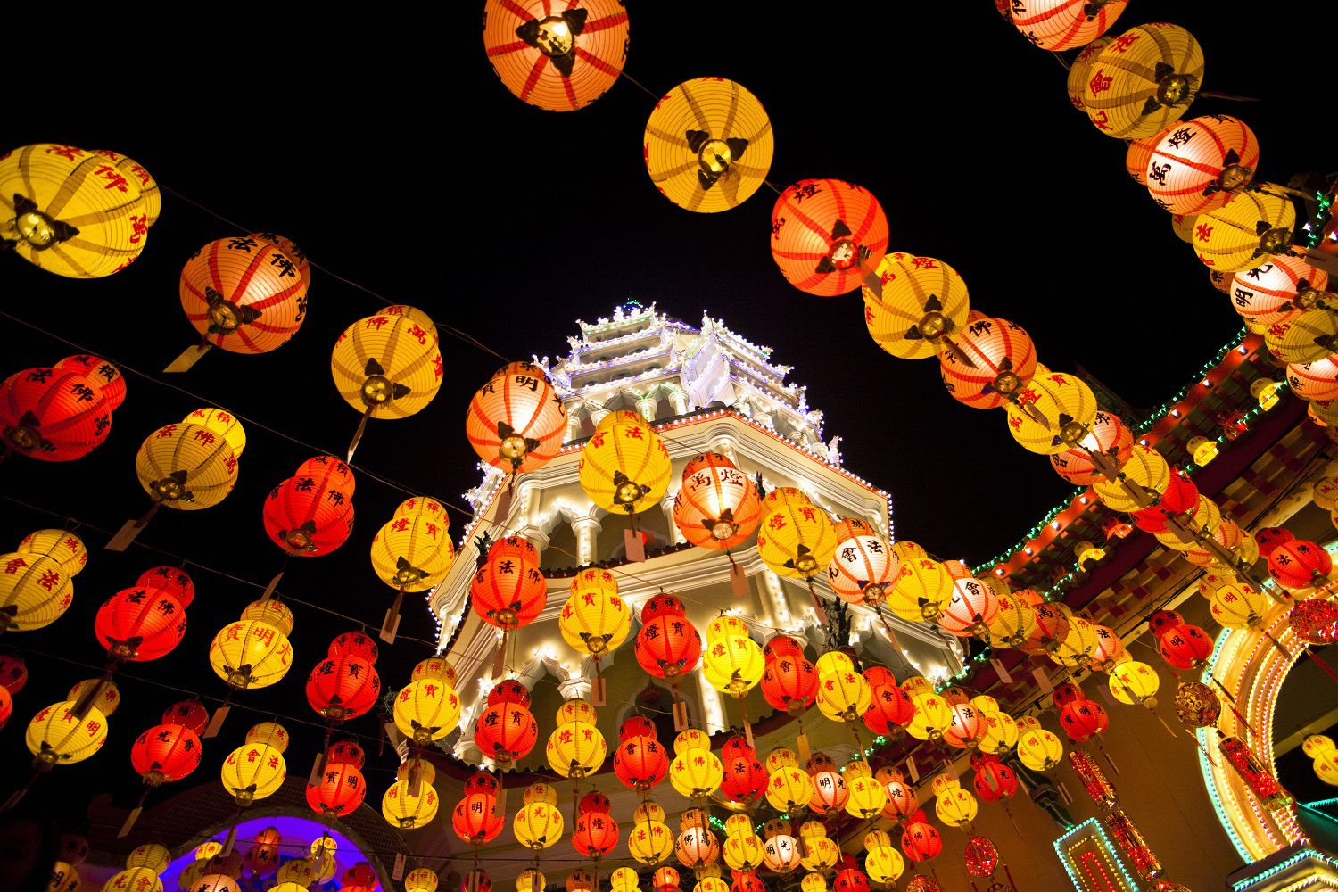 chinese new year lights on kek lok si temple penang malaysia - Chinese New Year Festival