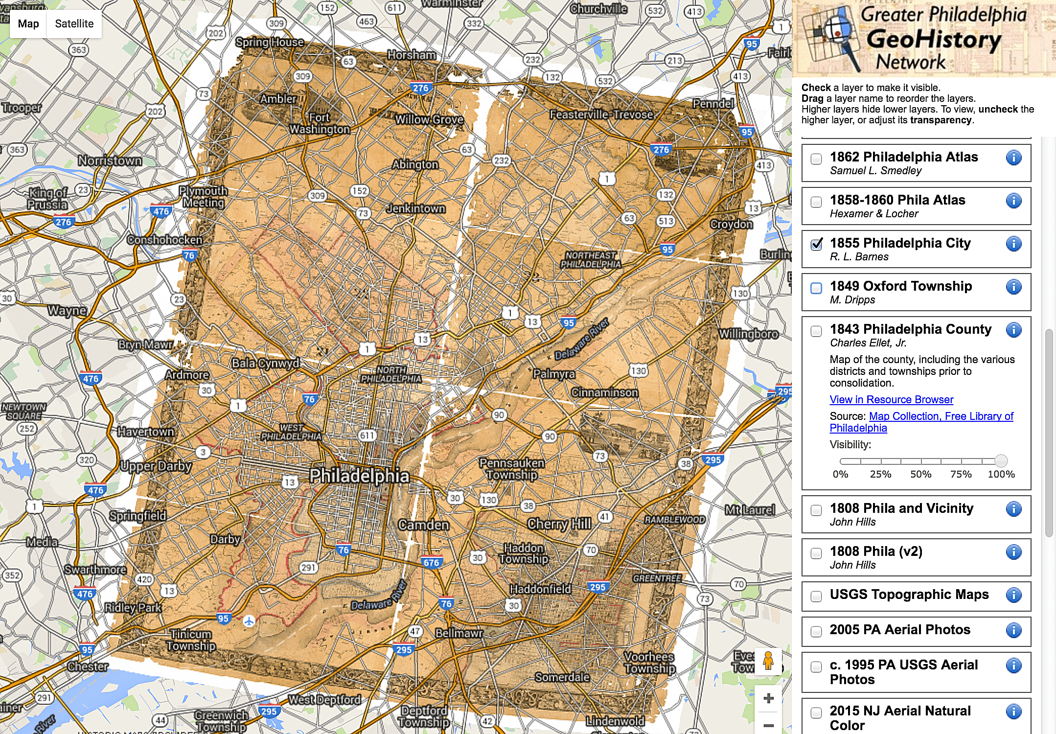 Historical Map Overlays For Google Maps And Google Earth - 1808 map of the us