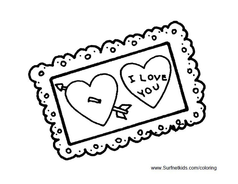 A Homemade Valentines Day Card Free Kids Coloring