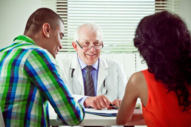 Senior doctor explaining medical results