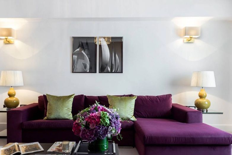 ultra violet sectional sofa