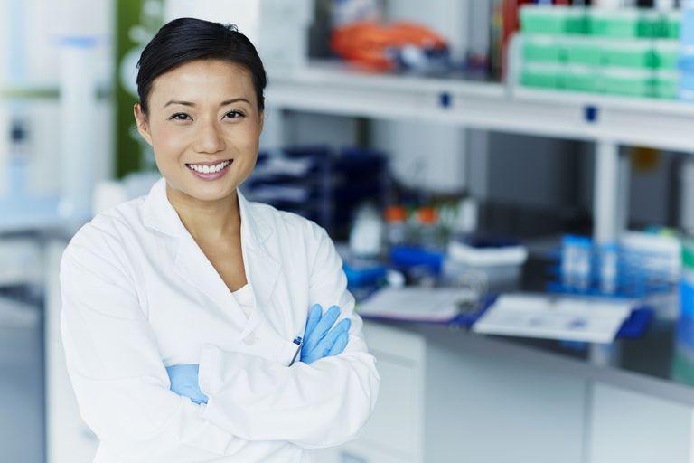 female research scientist