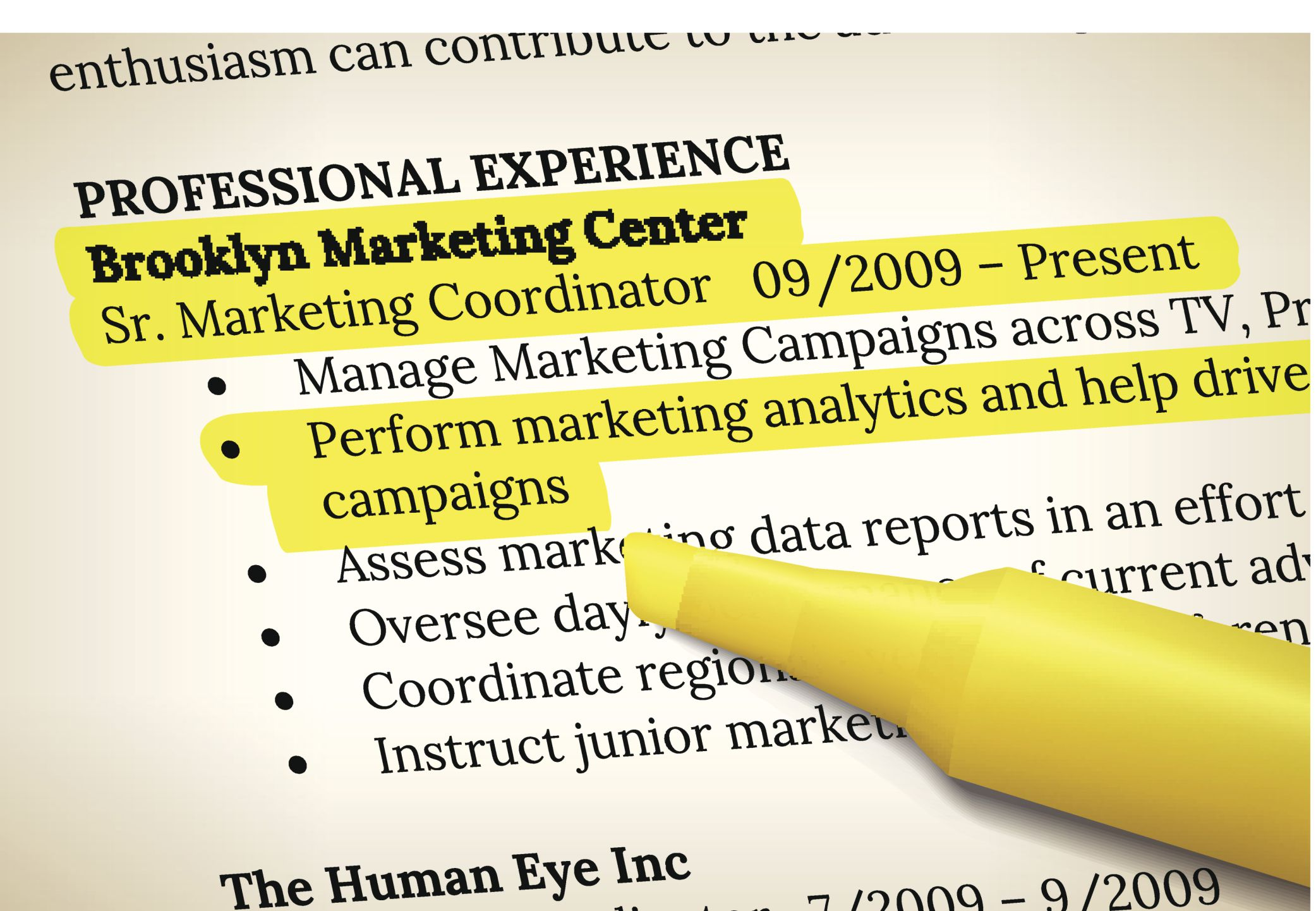 Learn What to Include in the Experience Section of Your Resume