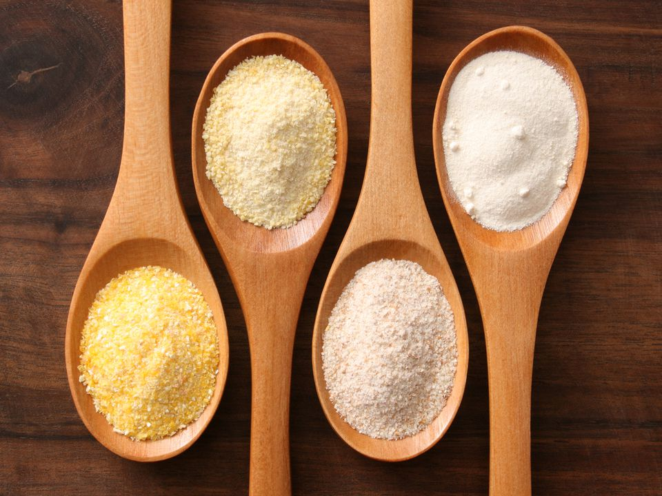 Spoons of flour