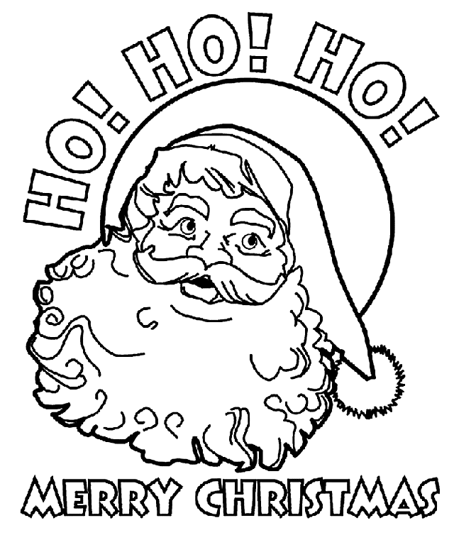 Crayolas Free Printable Santa Coloring Pages