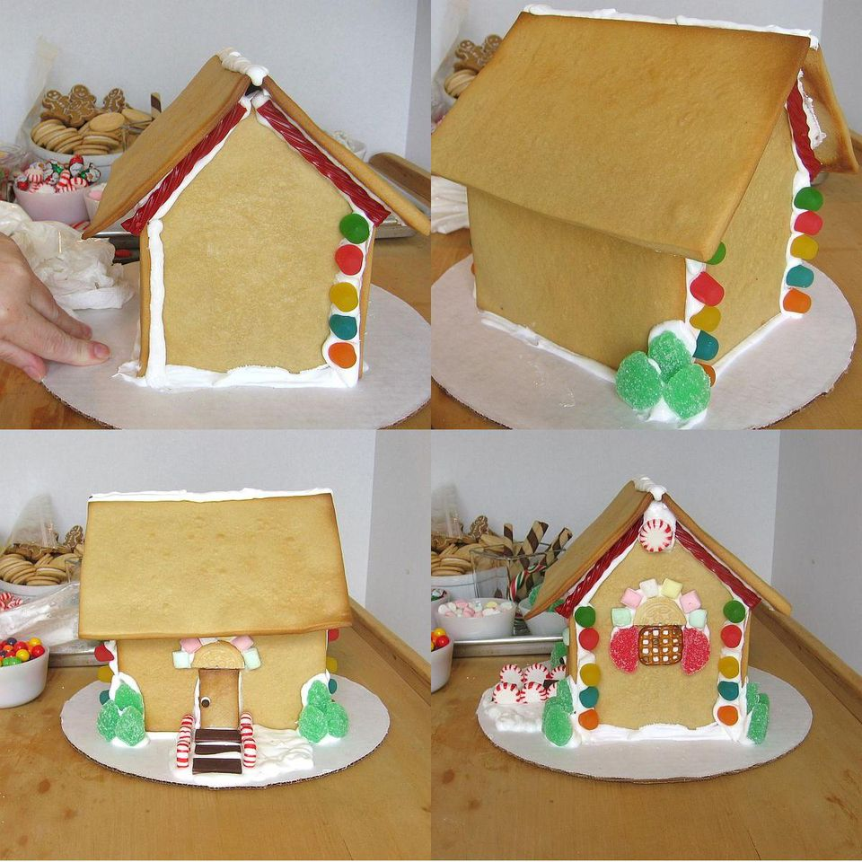 How to make and assemble a gingerbread house from scratch for Gingerbread decorations
