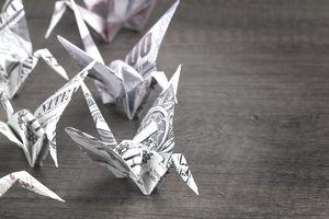 Money Origami Birds