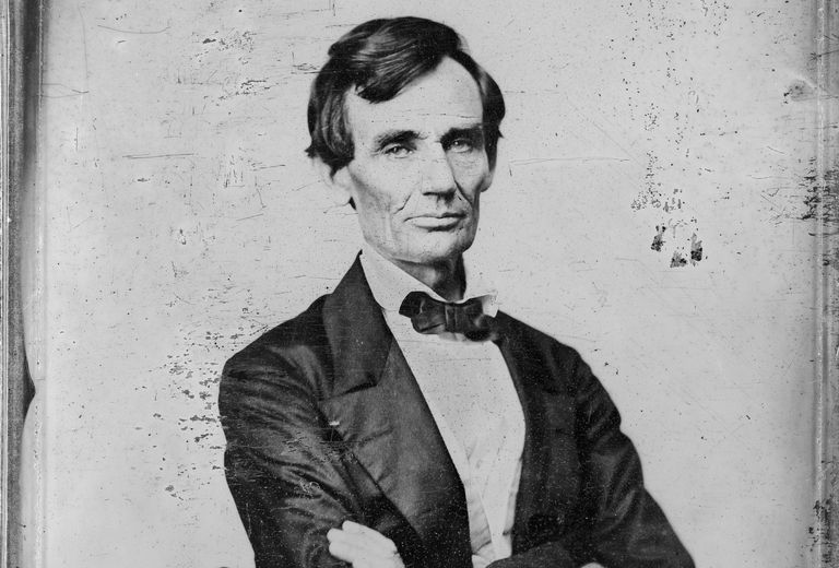 Photograph of Abraham Lincoln by Preston Brooks 1860