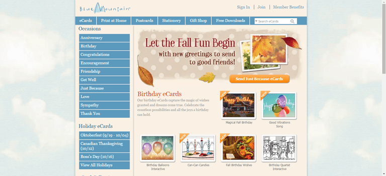 The top 9 sites for free ecards blue mountain has been around for a long time and they have beautifully designed ecards for any occasion this site offers a free no obligation trial bookmarktalkfo Gallery