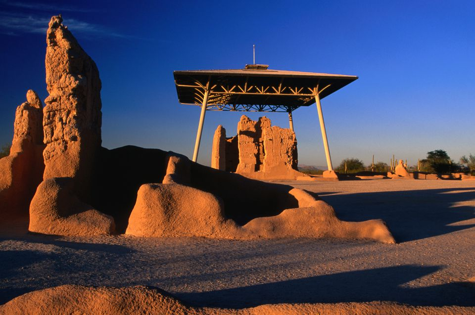 Casa Grande (Big House) Ruins National Monument in Arizona.
