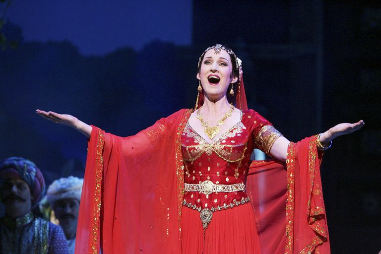 Singer Leanne Kenneally (Lakme) performs during Leo Delibes' 'Lakme' dress rehearsal at the Opera Theatre of the Sydney Opera House June 26, 2006 in Sydney, Australia.
