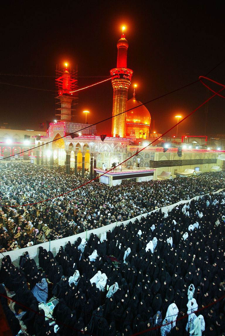 The Ashura festival at a Shia Mosque in Karbala, Iraq. Photo from 2007.