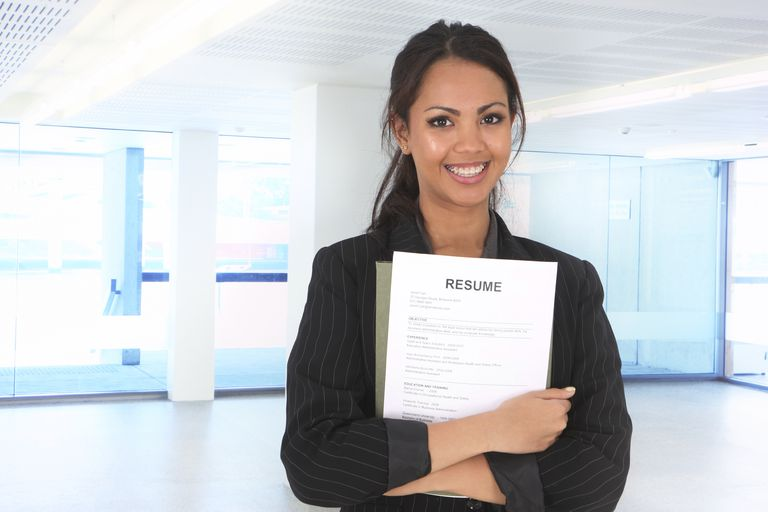 woman with resume