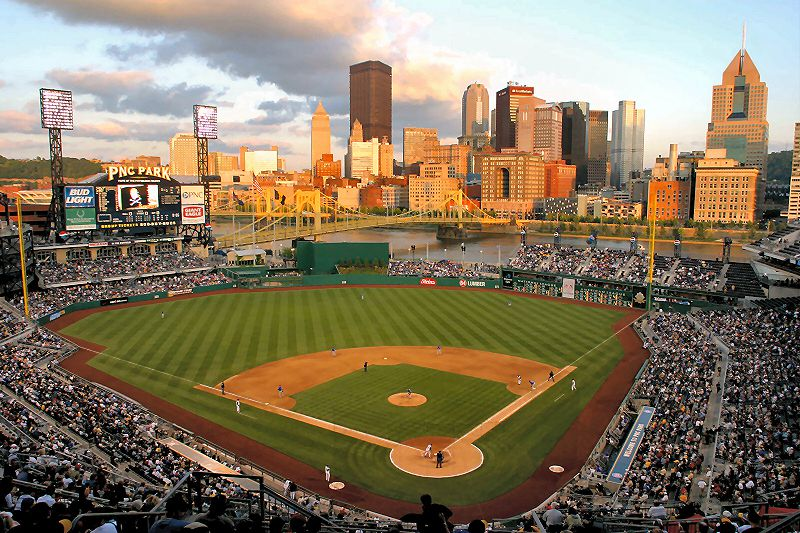 Gorgeous View Of Downtown Pittsburgh And PNC Park By David Raboin