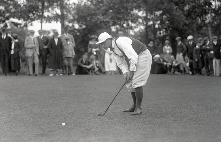 Golfer George Lyon of Canada in the early 1900s