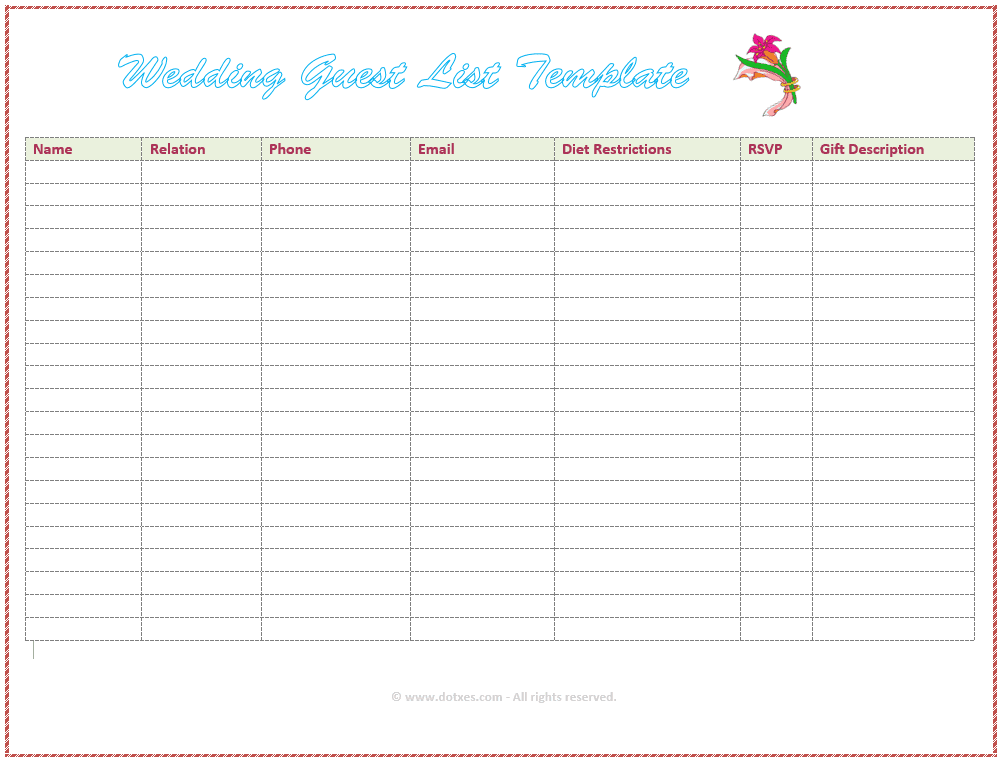 Free Wedding Templates For The DIY Bride - Wedding timeline template free