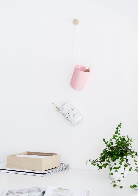 DIY Hanging Desk Organiser
