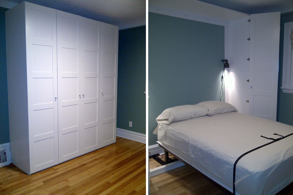 DIY Murphy Bed Projects For Every Budget - Building a murphy bed ikea