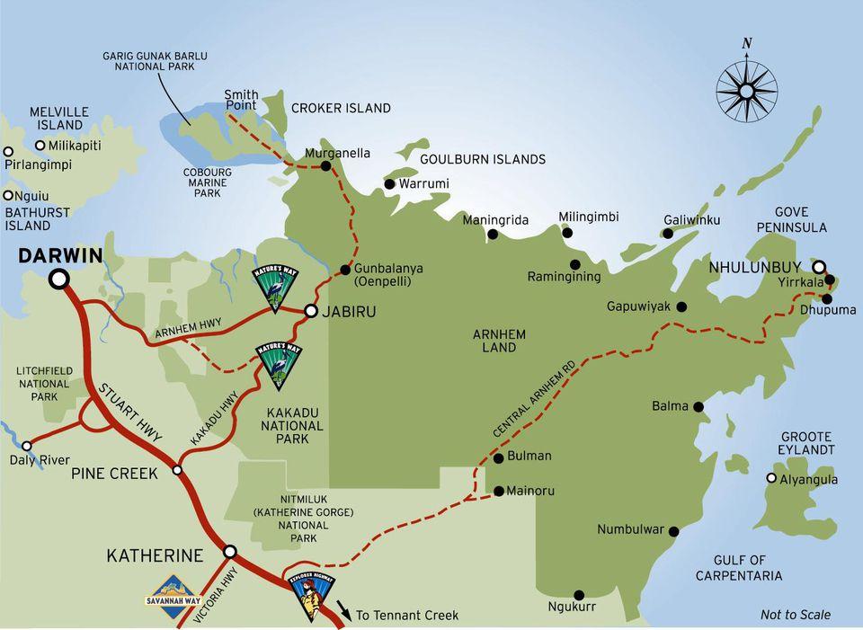 Arnhem Land Map