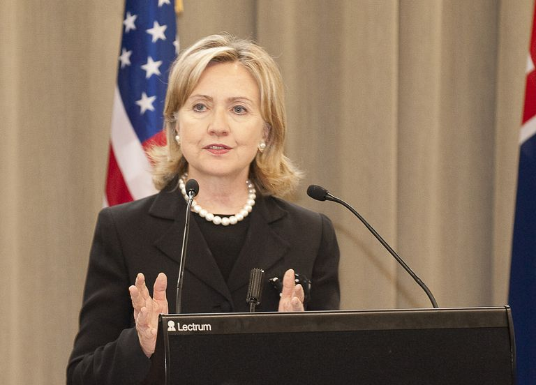 HIllary Clinton as secretary of state.