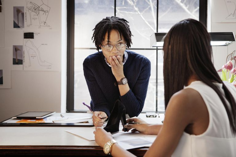 Female Shoe Designers Sketching in Studio