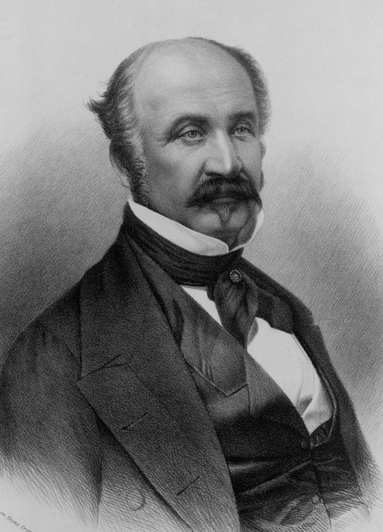Lithographic portrait of John Sutter