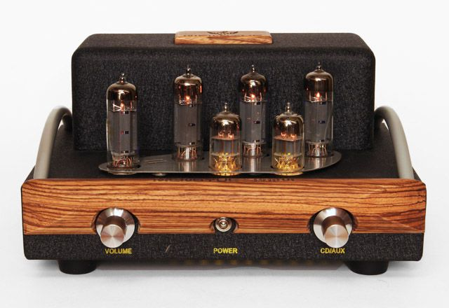 The front side of the Mengyue Mini tube integrated amplifier
