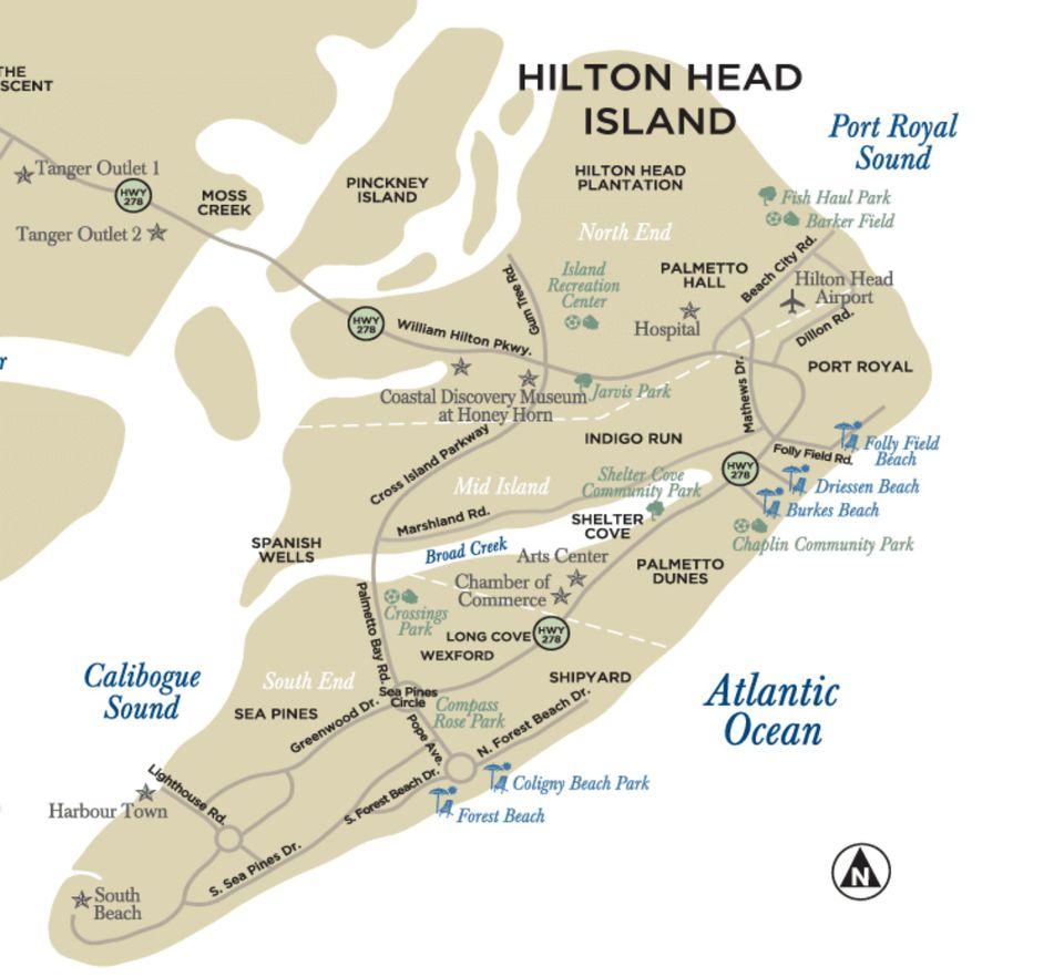Maps Of Hilton Head Island South Carolina - South carolina coast map