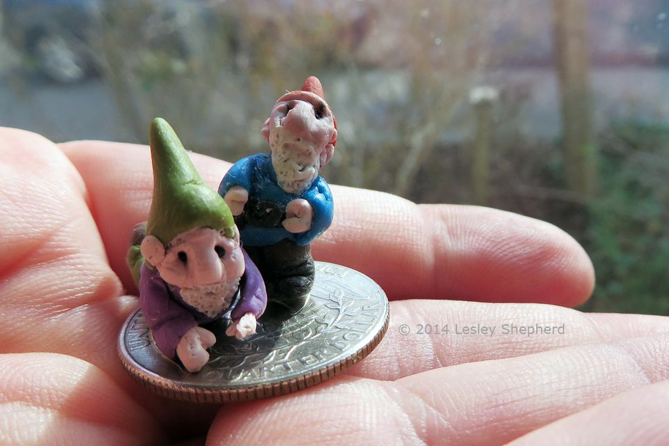 Miniature garden gnomes