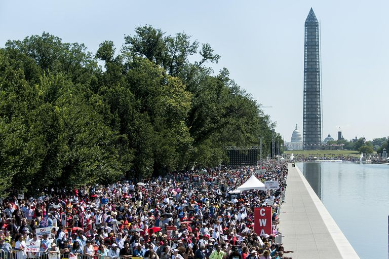 Crowd at National Mall on 50th Anniversary of the March on Washington