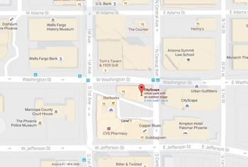 Use This Map To Get To The Phoenix Convention Center - Phoenix on us map