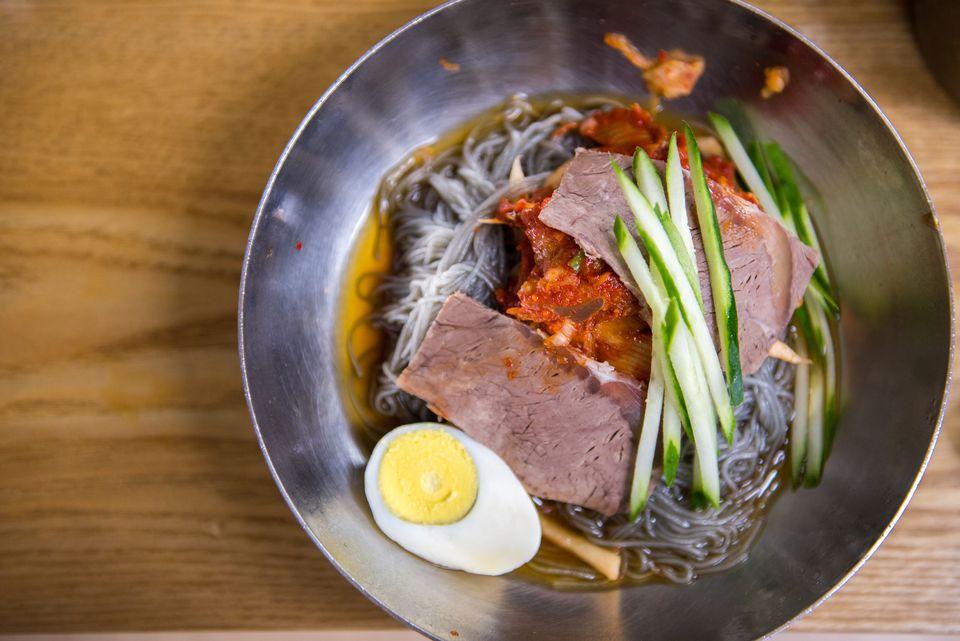 Korean cold noodles- naengmyoen