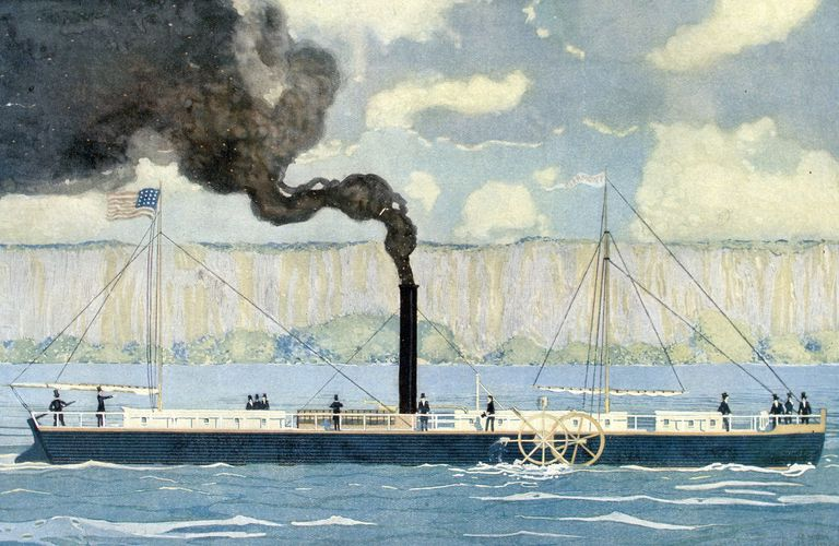 Illustration of Robert Fulton's steamboat