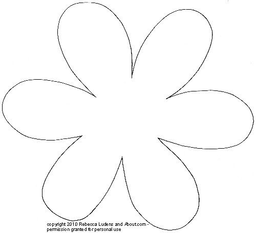 Flower patterns and templates for scrapbooking large rounded flower pattern pronofoot35fo Gallery