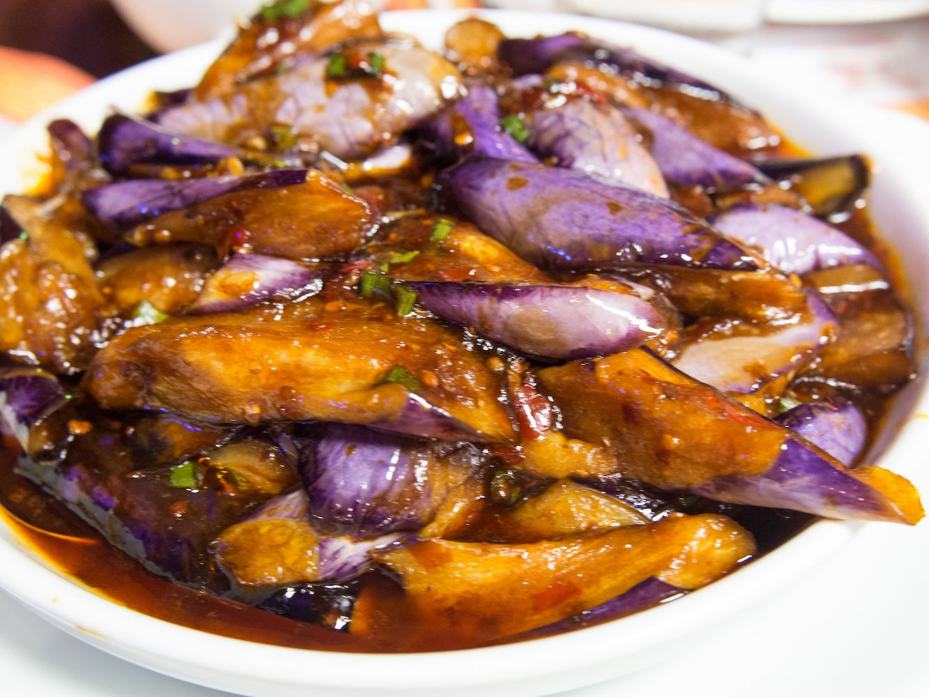 Szechuan Eggplant In Garlic Sauce