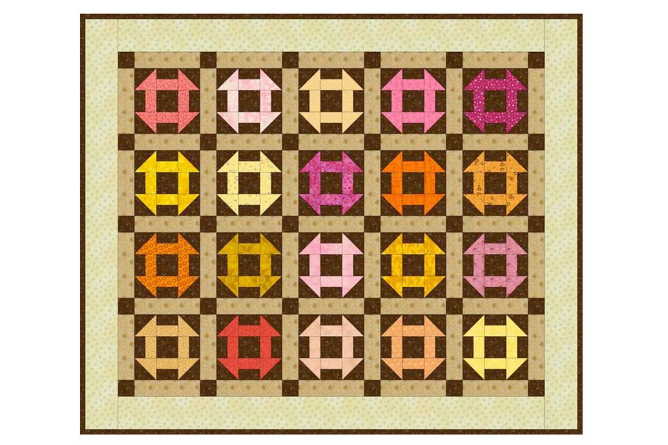Easy Monkey Wrench Baby Quilt Pattern