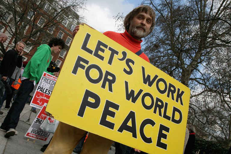 peaceful protestor