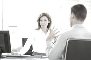 job recruiter interviewing candidate
