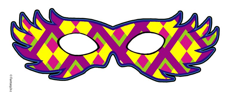 11 free printable masquerade and mardi gras masks a printable mardi gras mask in red purple and green pronofoot35fo Images