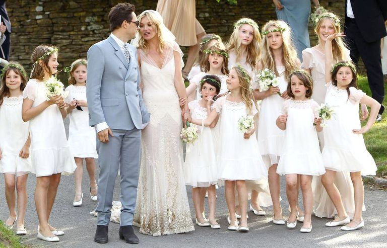 7 of the best supermodel wedding dresses of all time kate moss wedding junglespirit Gallery