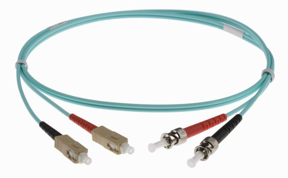 Fibre Optic cable Pig tail against white background
