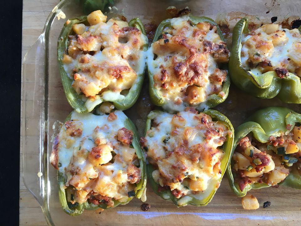 Bell Peppers With Chorizo and Potatoes