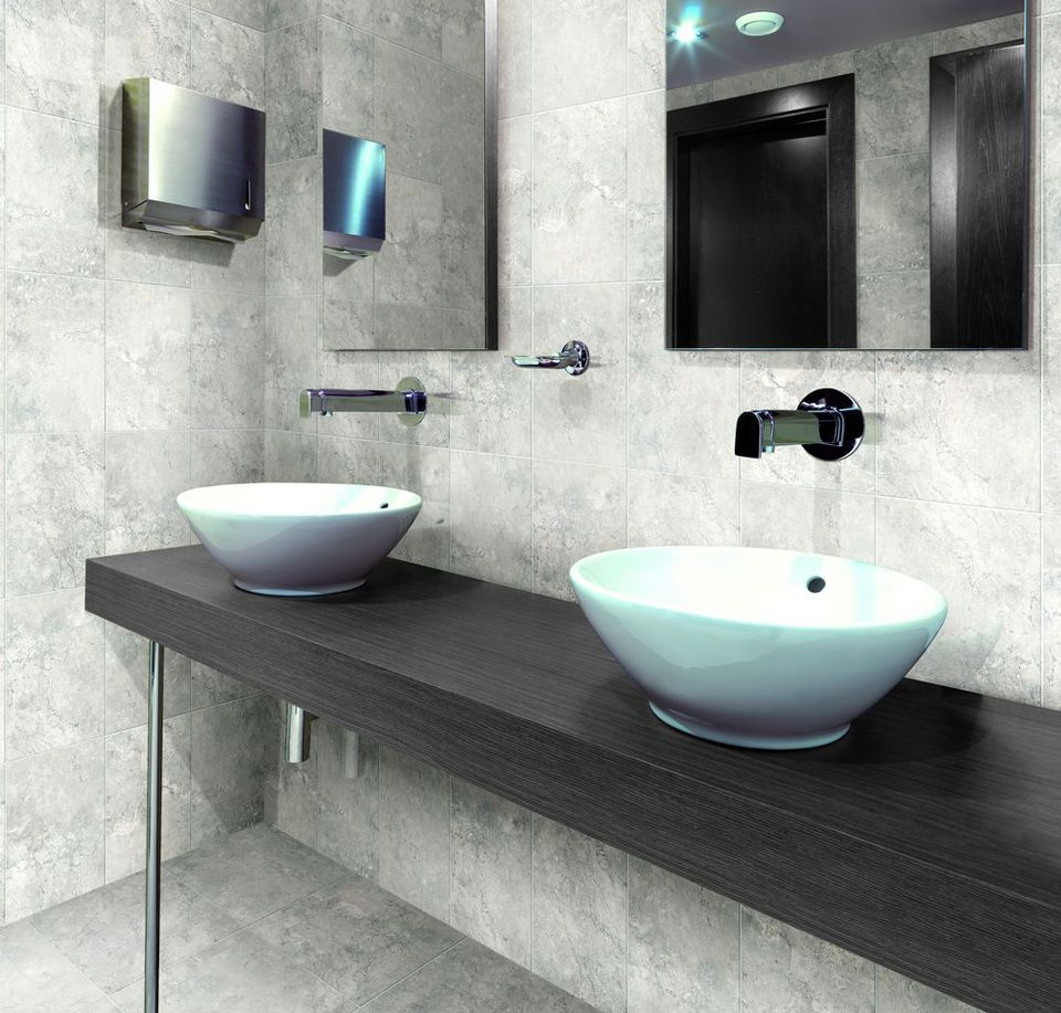 Images of bathroom wall tiles - Gray Porcelain Tile For Bathroom Wall And Floor