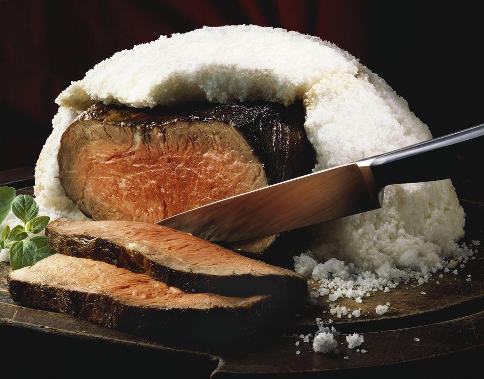 Salt Crusted Steak